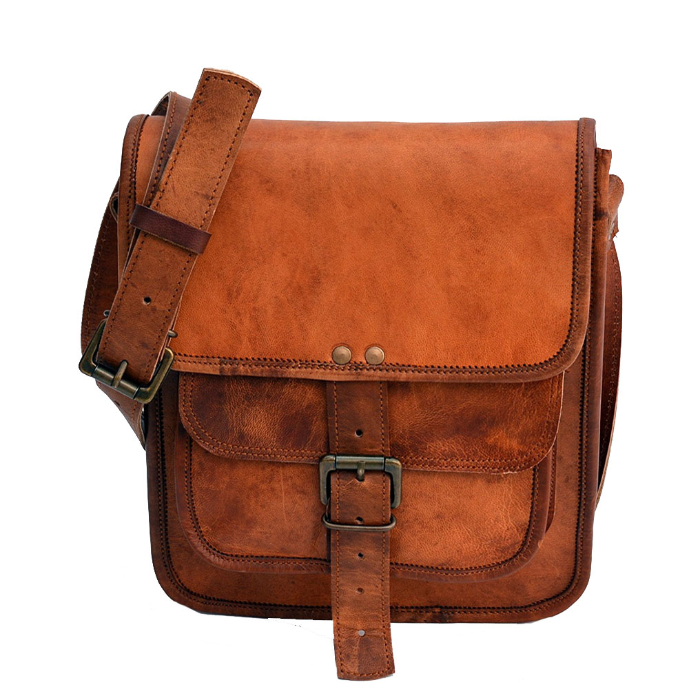 Satchel and fable Leather 11 Inch Sturdy Leather I pad Messenger Satchel Bag  Tablet satchel cross body shoulder bag