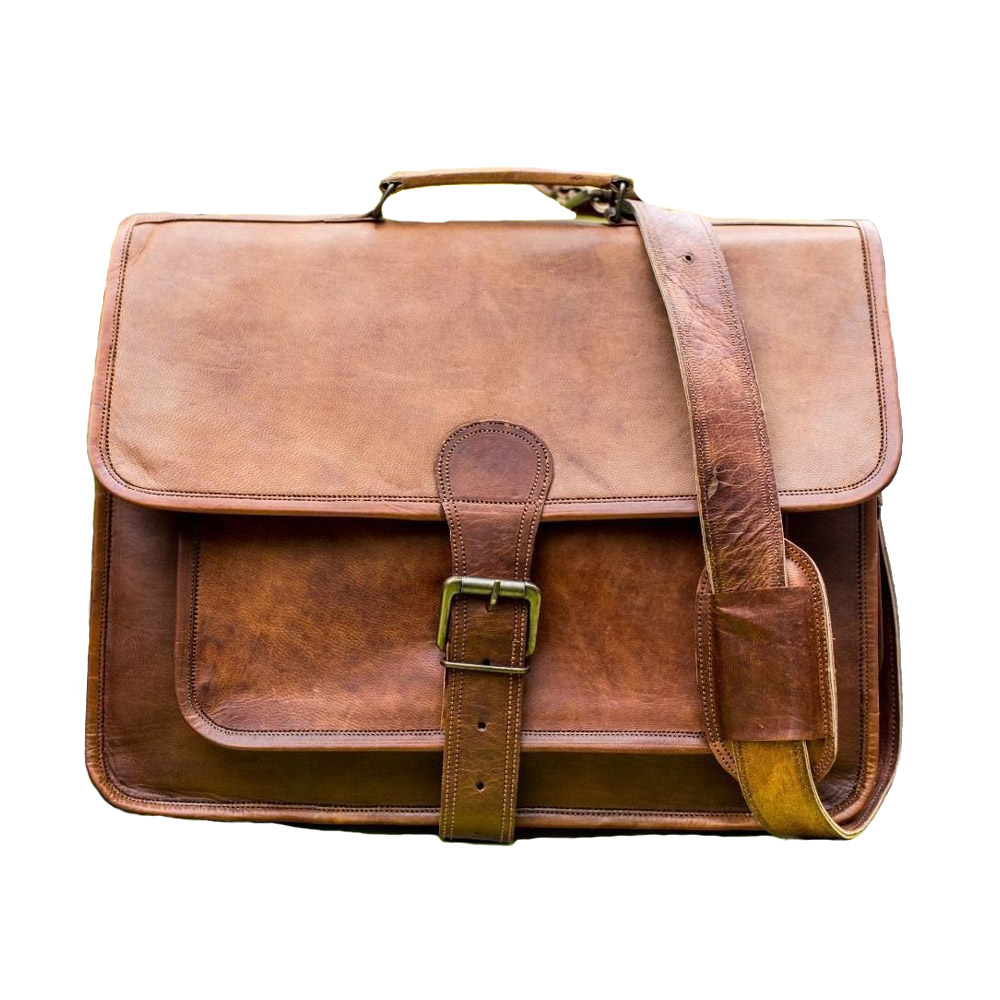 38d17c9928316 Vintage Leather Laptop Bag 16″ Messenger Handmade Briefcase Crossbody  Shoulder Bag