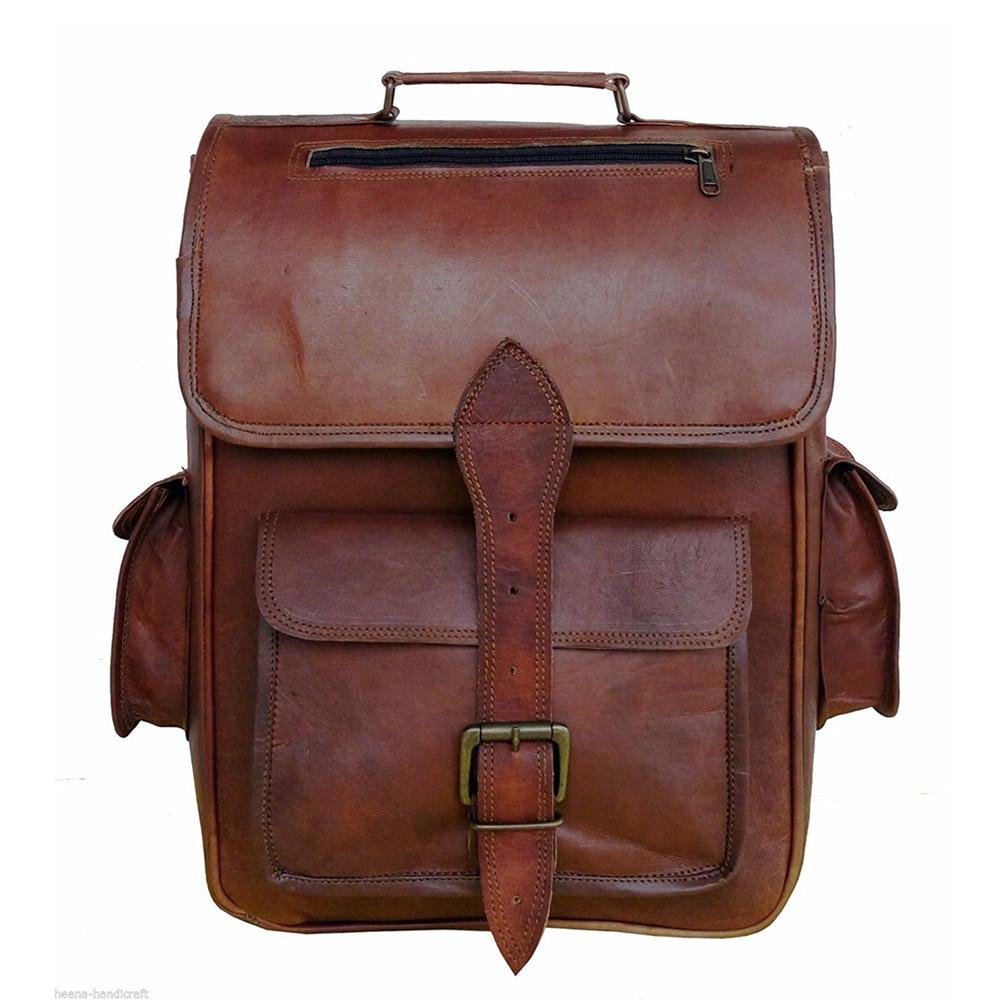 Leather Backpack Rucksack Vintage Bag Handmade Style College